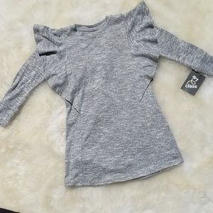 Girls Grey Long Sleeve Dress Size  XS 4-5